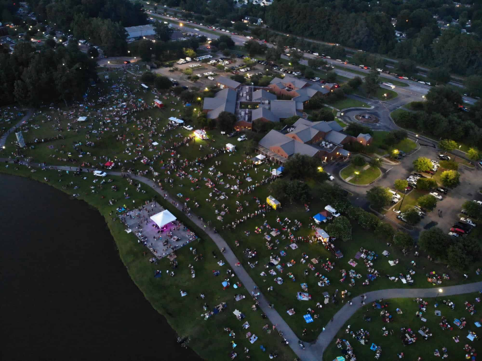Drone of 2018 July 4 Celebration at City Hall